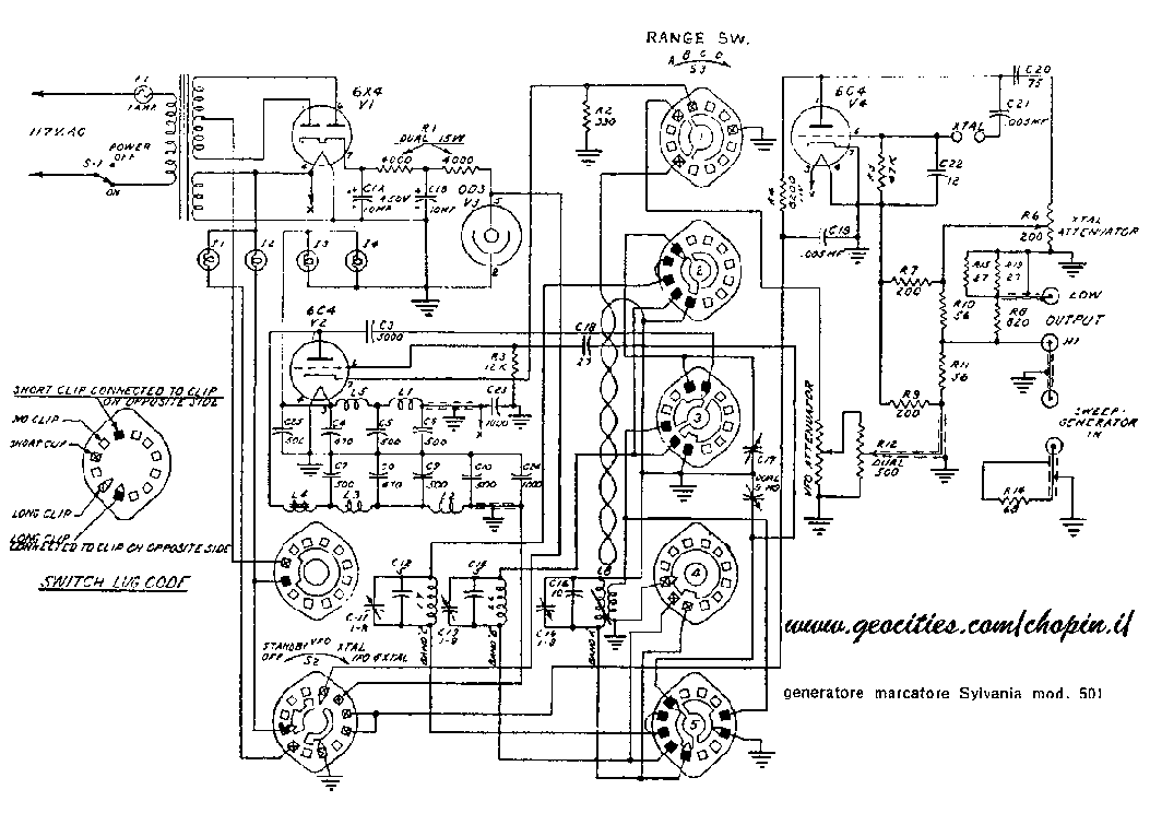 SYLVANIA 501 SIGNALGENERATOR Service Manual download