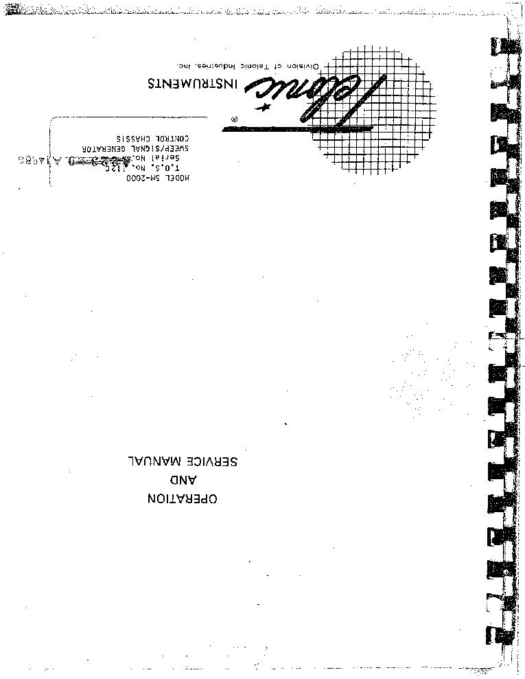 TELONIC BERKELEY 1019 252KHZ 115MHZ RF SWEEP GENERATOR