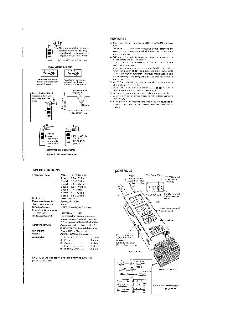 TRIO DM-801 DIPMETER USER-SERVICE Service Manual download