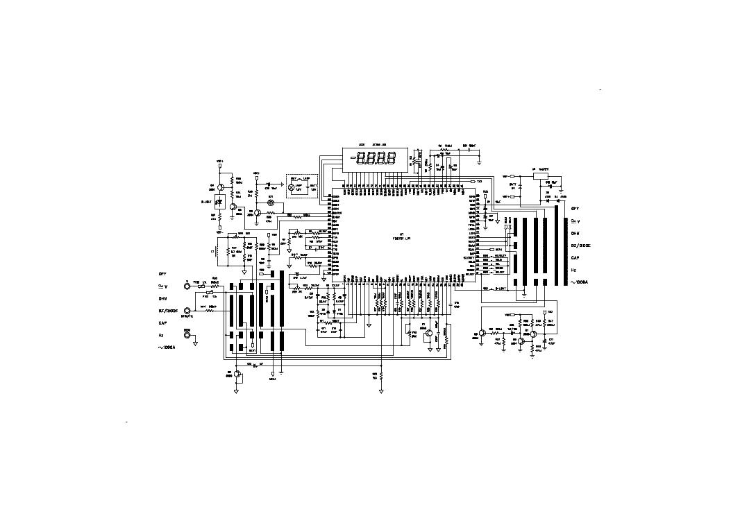 UNI-T UT61E Service Manual download, schematics, eeprom