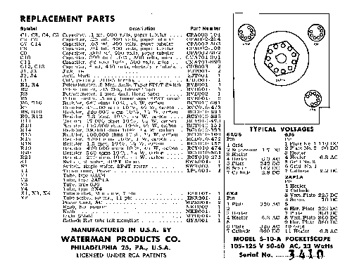 WATERMAN S-11-A POCKETSCOPE Service Manual download