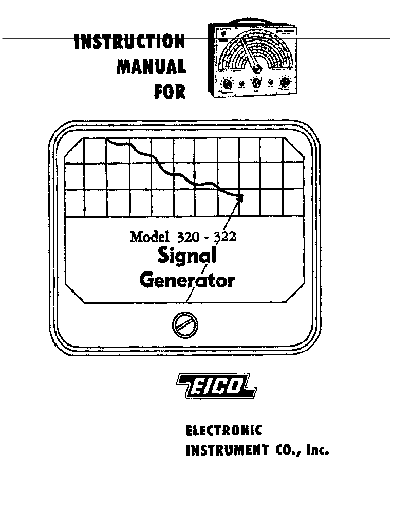 EICO 324 CONSTRUCTION MANUAL Service Manual download
