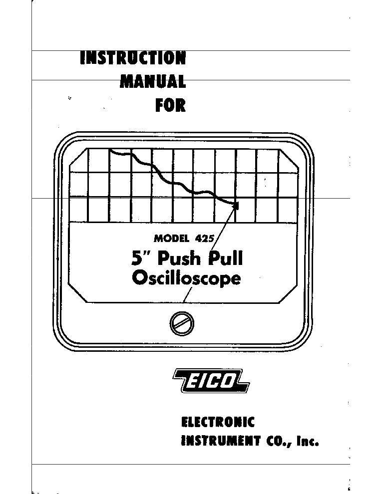EICO 666 TUBE CHART CORRECTION SHEET SM Service Manual