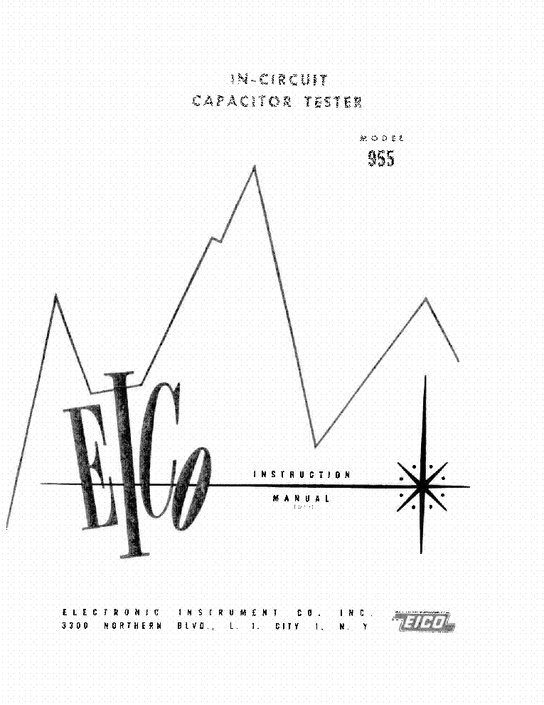 EICO 955 CAPACITOR TESTER Service Manual download