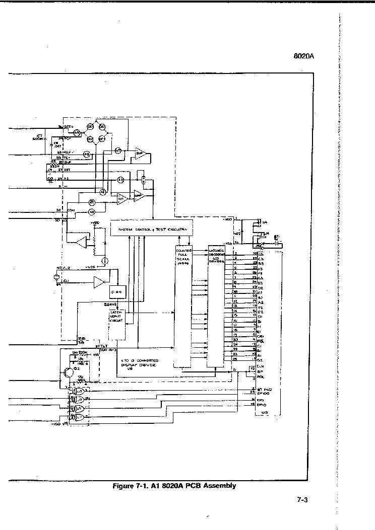 FLUKE 8020A DMM SCH Service Manual download, schematics