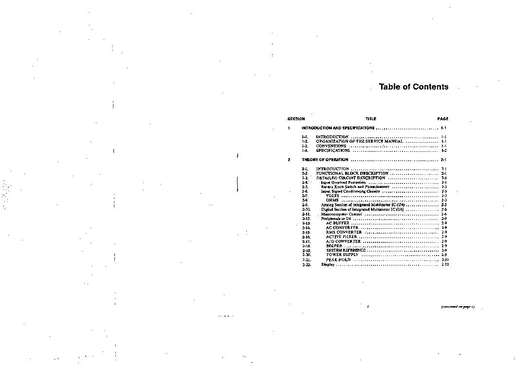 FLUKE 83 85 87 SM Service Manual download, schematics