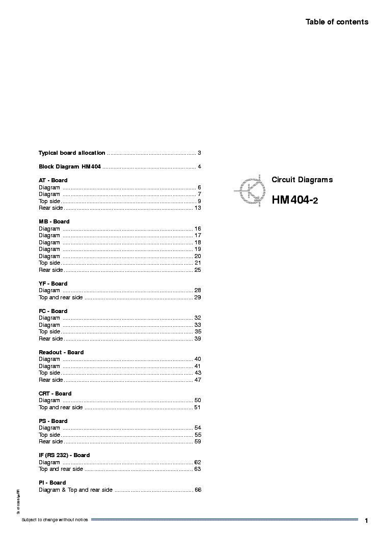 HAMEG HM504 1004 OSCILLOSCOPE SCH Service Manual download