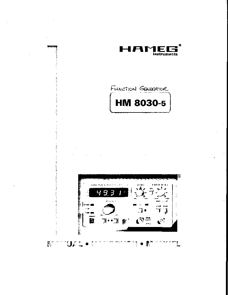 HAMEG HM203-7 OSCILLOSCOPE SCH Service Manual download