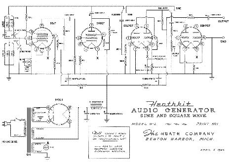 HEATHKIT G-2 VINTAGE AUDIO GENERATOR 1948 SCH Service