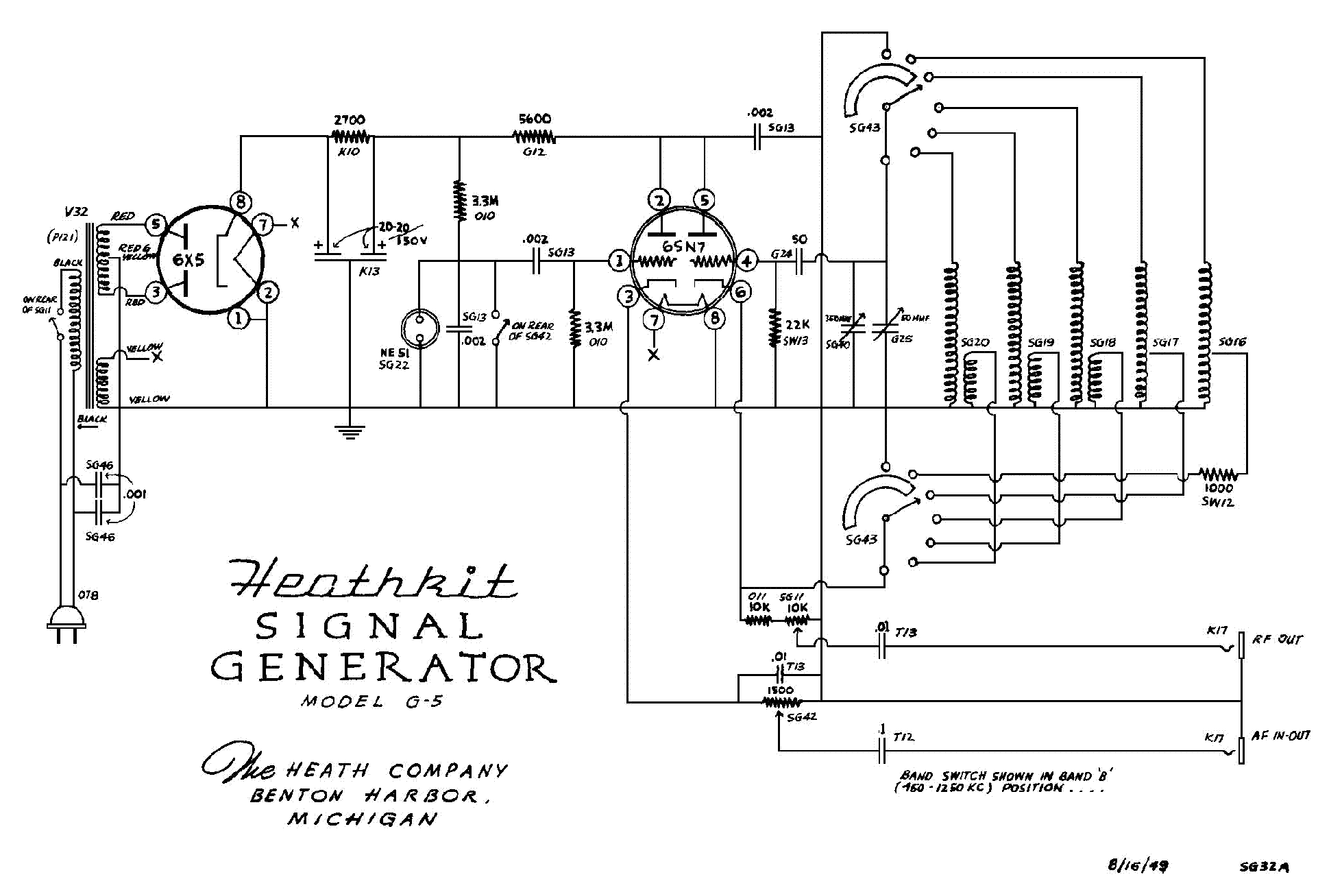 HEATHKIT BE-5 BATTERY ELIMINATOR SCH Service Manual