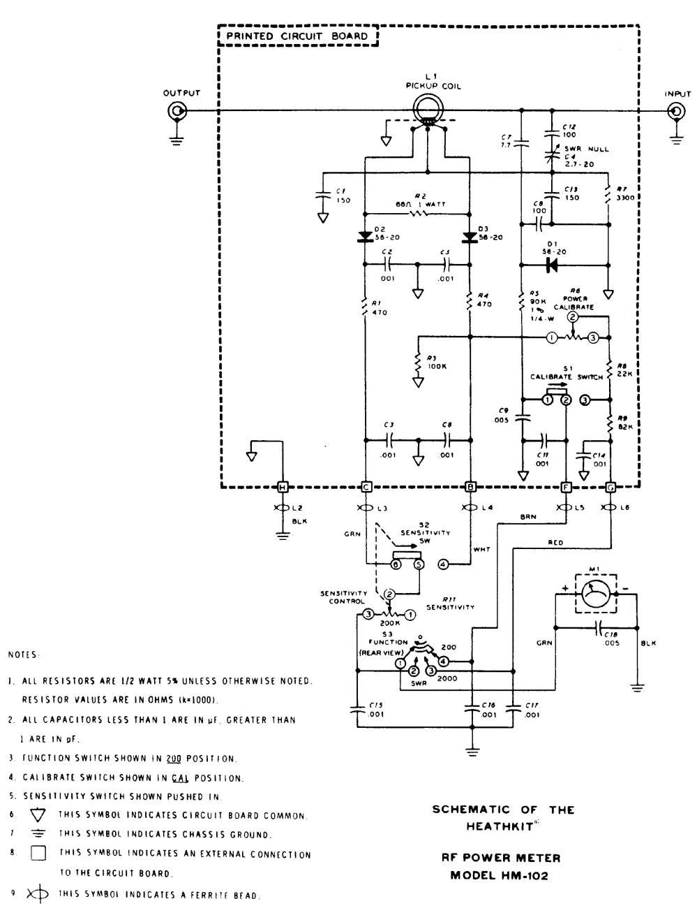 medium resolution of heathkit hm 102 rf power meter sm service manual 1st page