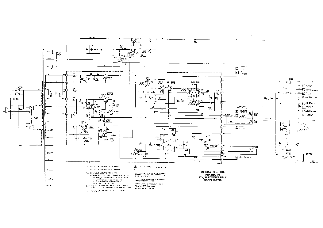 HEATHKIT IP-2710 POWER SUPPLY SCH Service Manual download