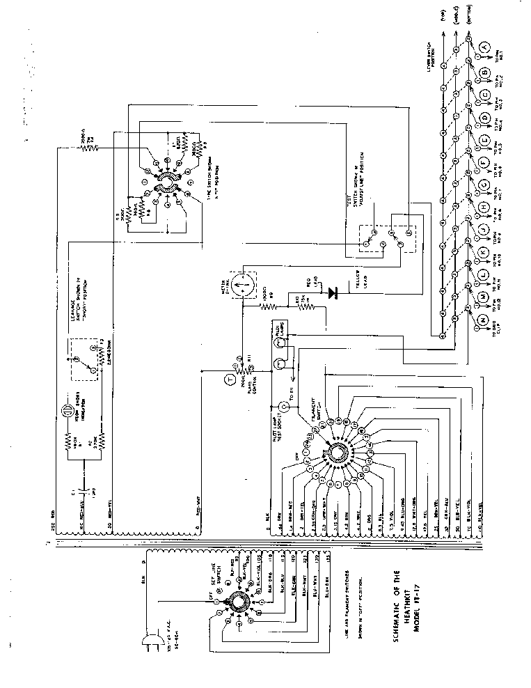 HEATHKIT IT-17 TUBE CHECKER SCH Service Manual download