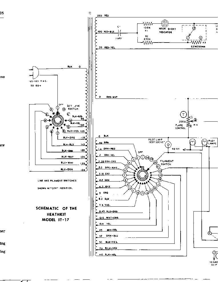 HEATHKIT IT-17 TUBE CHECKER SCH Service Manual download
