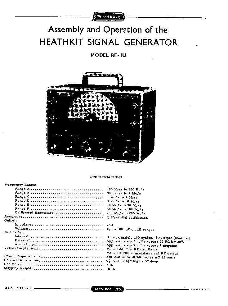 HEATHKIT IT27 TRANSISTOR CHECKER SCH Service Manual free