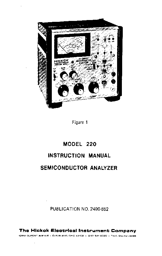 HICKOK MODEL 536 TUBE TESTER Service Manual free download