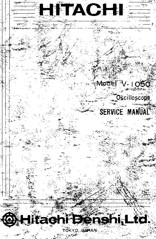 HITACHI V1050 V650F Service Manual download, schematics