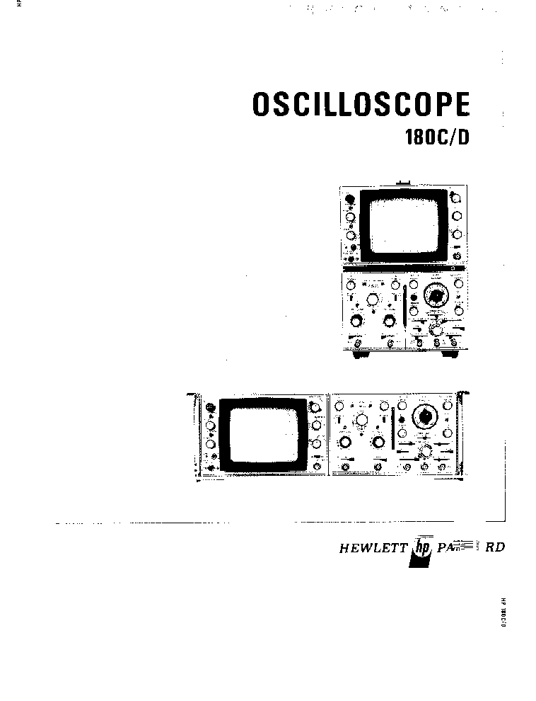 HP-180C-D OSCILLOSCOPE OP-SM Service Manual download