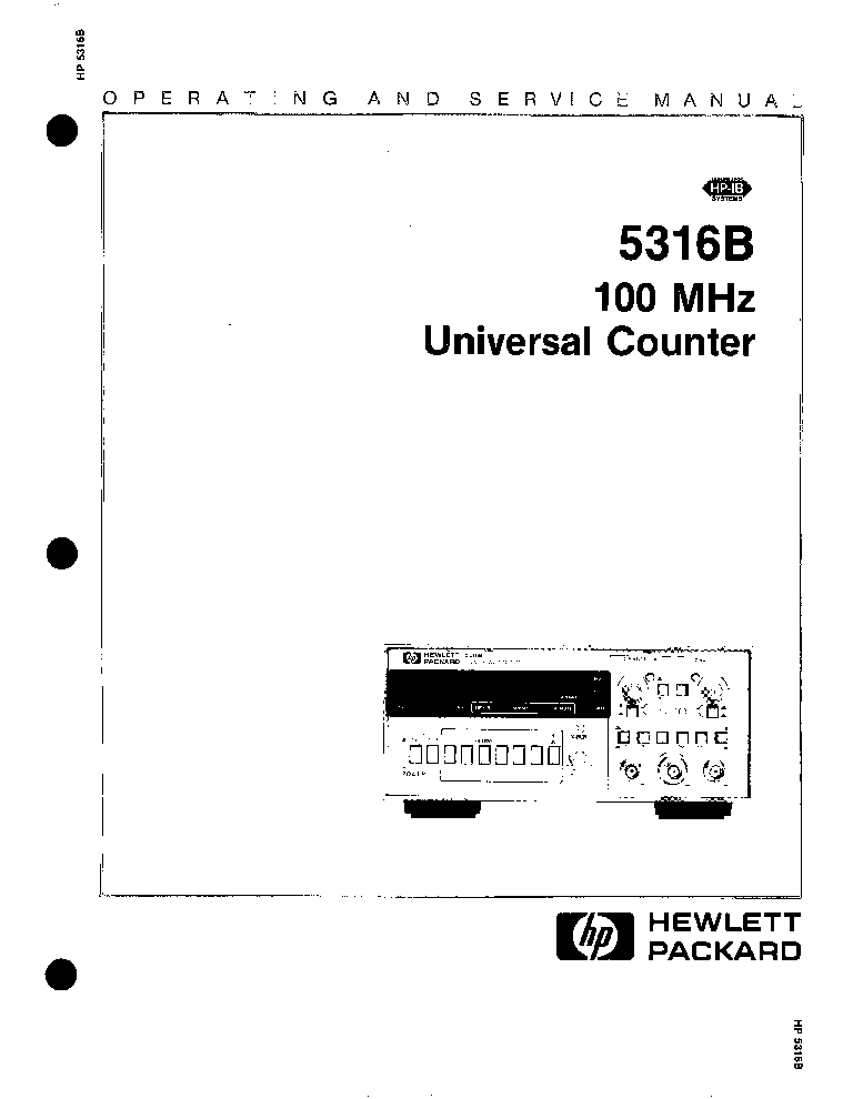 HP 5316B SM Service Manual download, schematics, eeprom