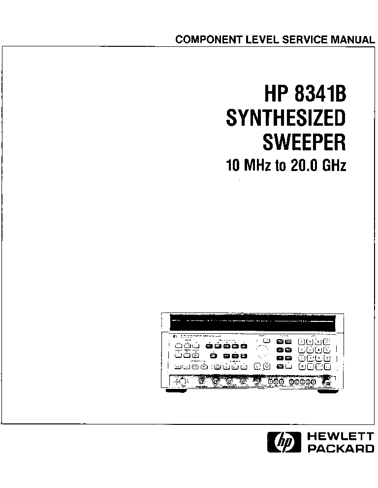 HP AGILENT-TECHNOLOGIES 8341B SYNTHESIZED SWEEPER VOL2