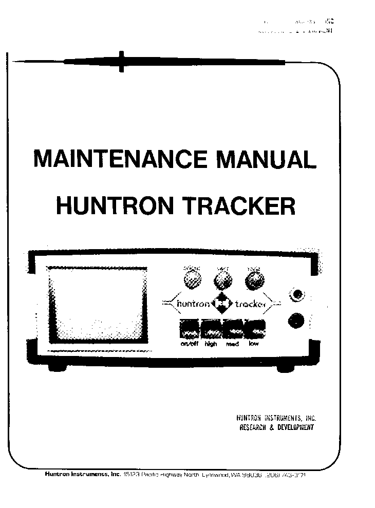 HUNTRON TRACKER 2000 MANUAL PDF