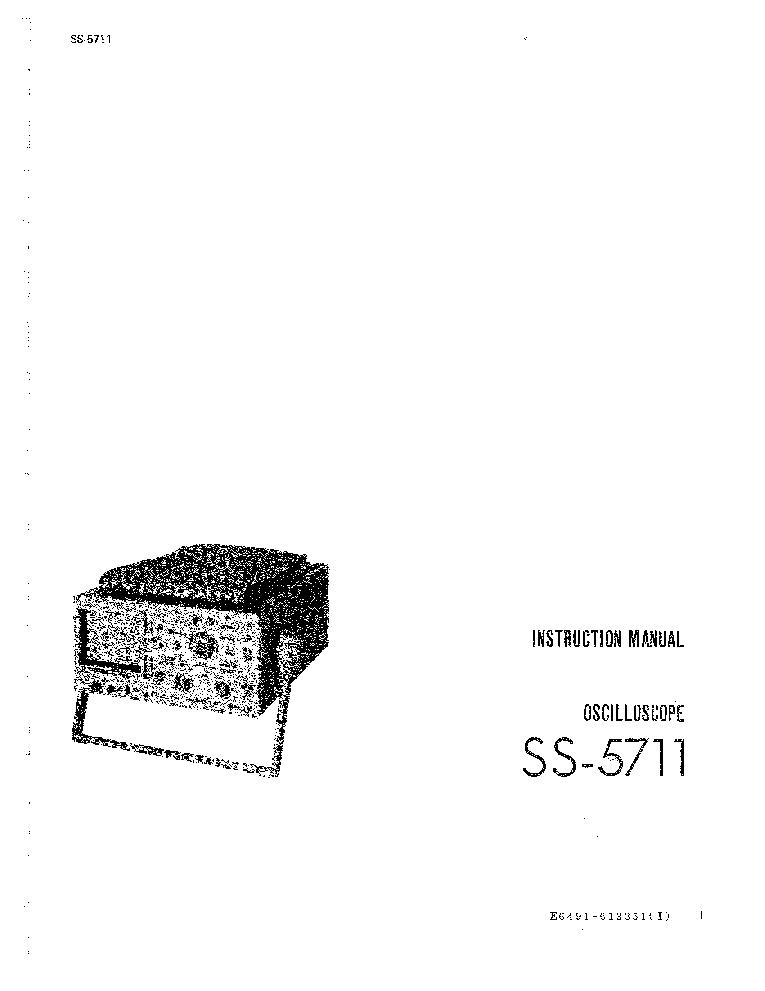 IWATSU SS-5711 SM Service Manual download, schematics