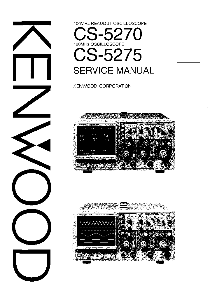 KENWOOD CS1562A OSCILLOSCOPE Service Manual download