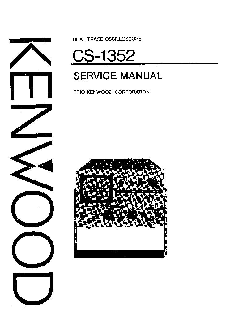KENWOOD TRIO CS-1352 OSCILLOSCOPE SM EN Service Manual
