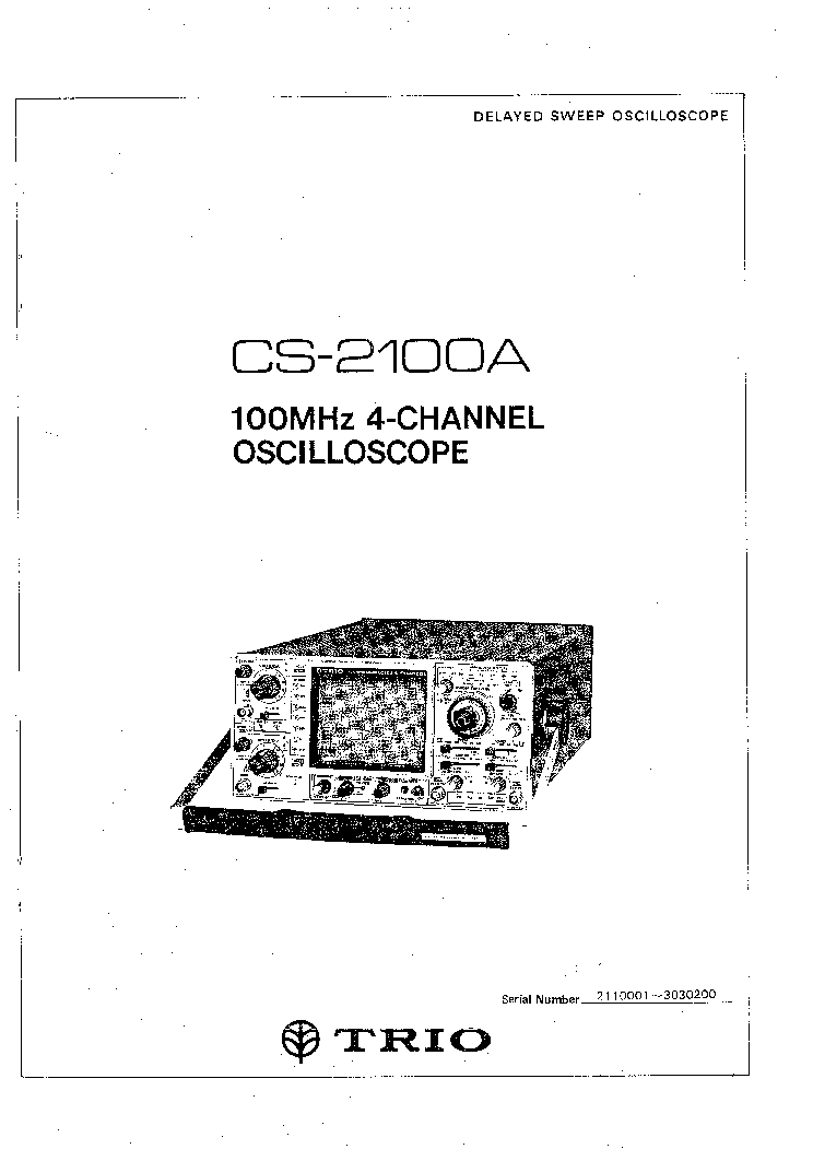 KENWOOD TRIO CS-2100A Service Manual download, schematics