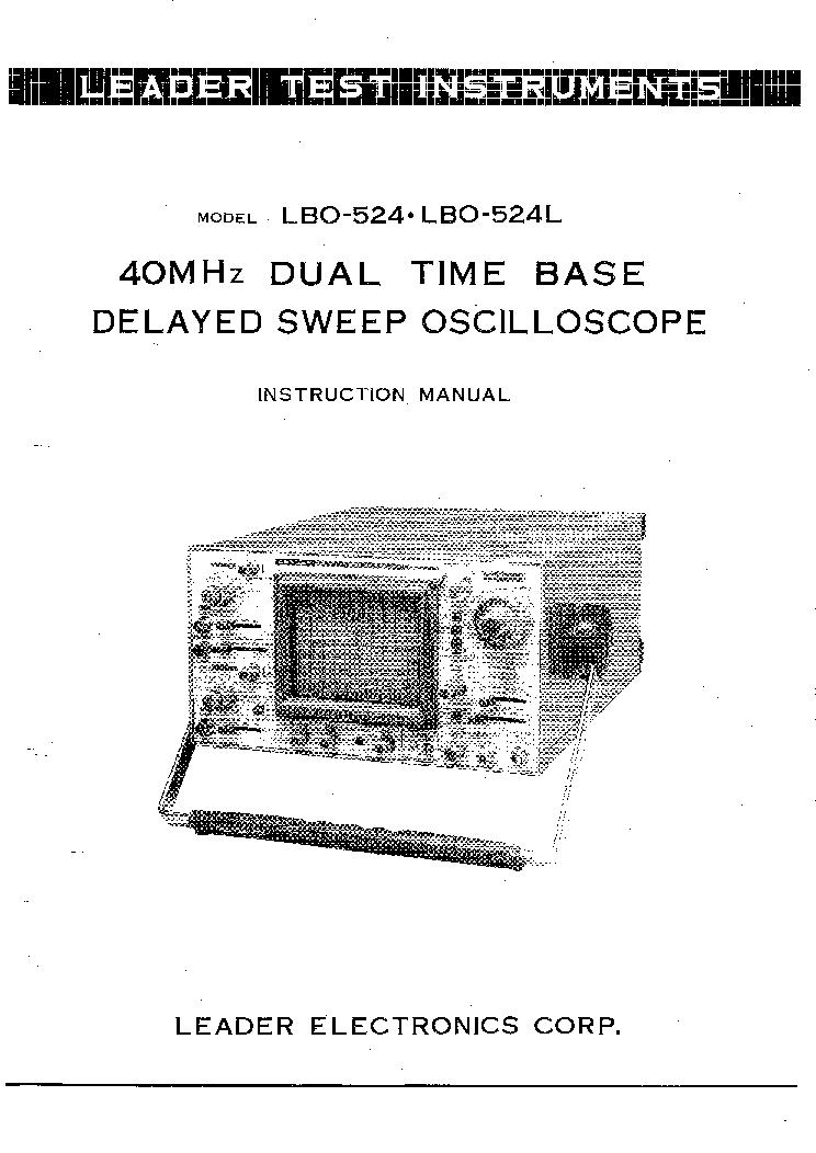 LEADER LSG16 SIGNAL GENERATOR 1976 SCH Service Manual