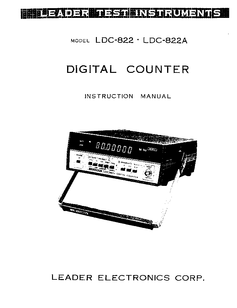 LEADER LDC-822 DIGITAL COUNTER Service Manual download