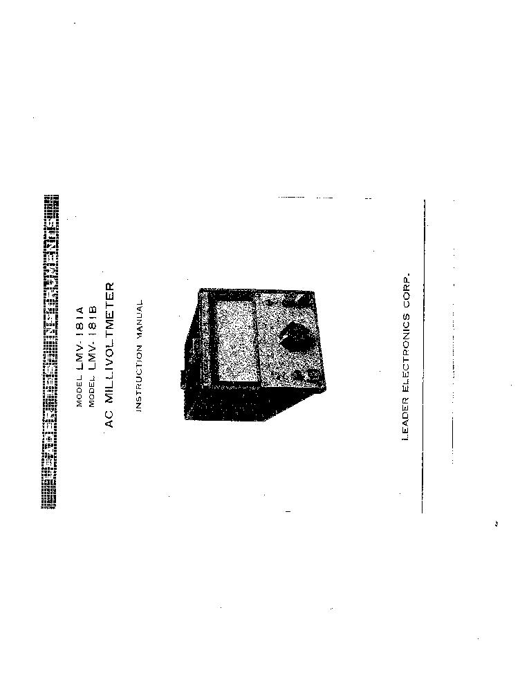 LEADER LEM-75A Service Manual download, schematics, eeprom