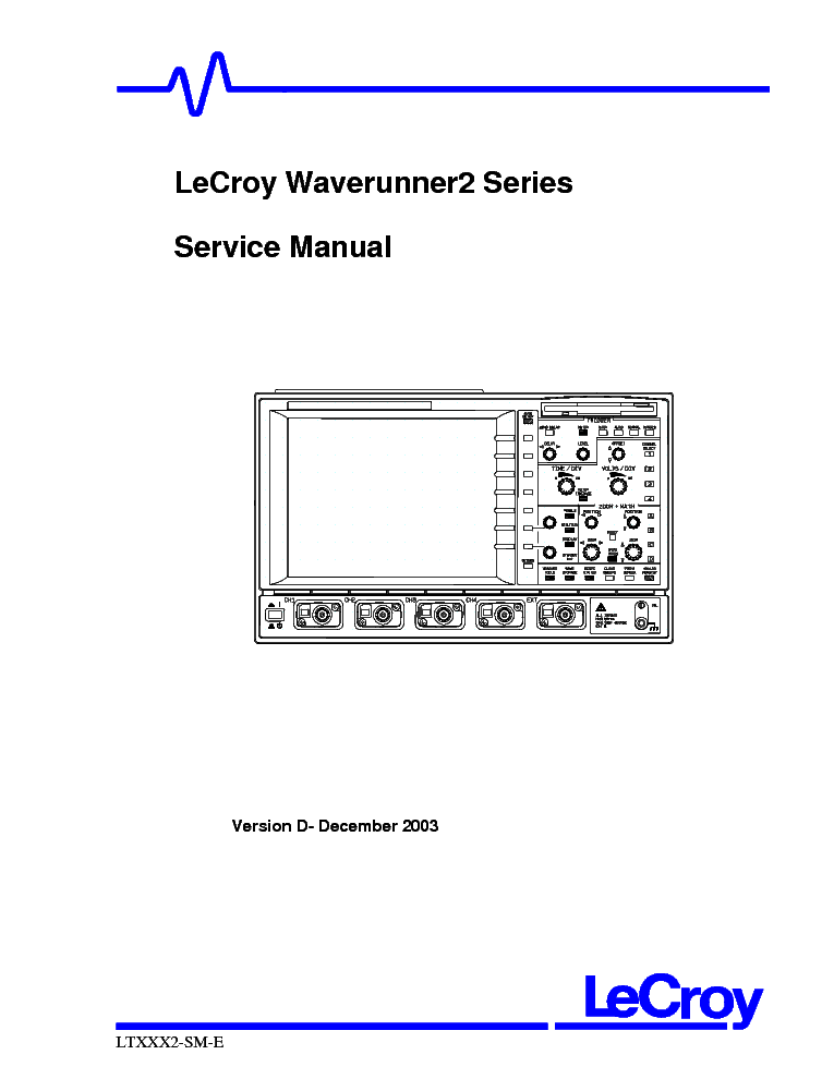 LECROY 9354A-M-L-TM SM Service Manual download, schematics
