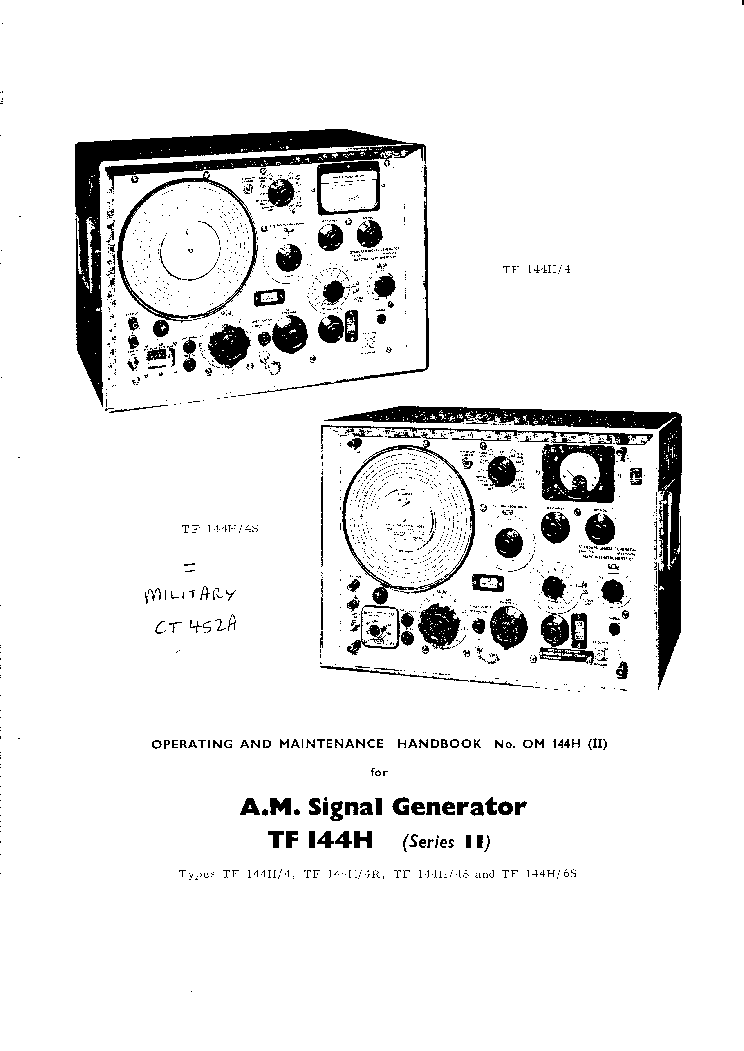 MARCONI TF2603 500MHZ RF-MILLIVOLTMETER 1977 FULL SM
