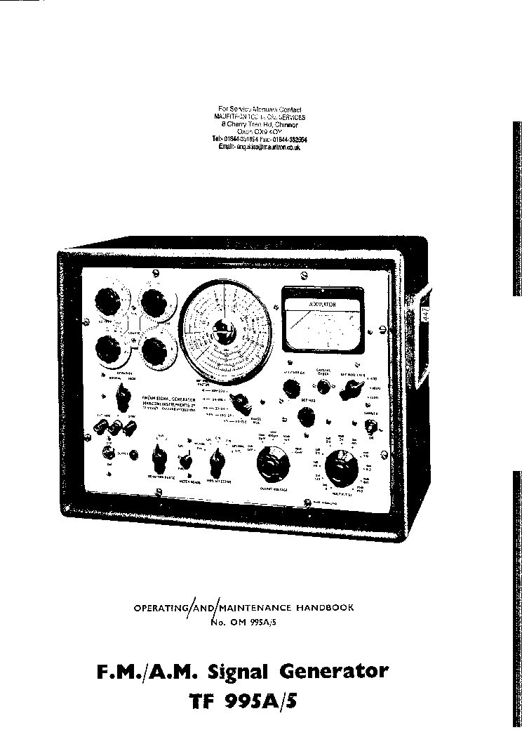 MARCONI TF995A-5 SIGNAL SM Service Manual download