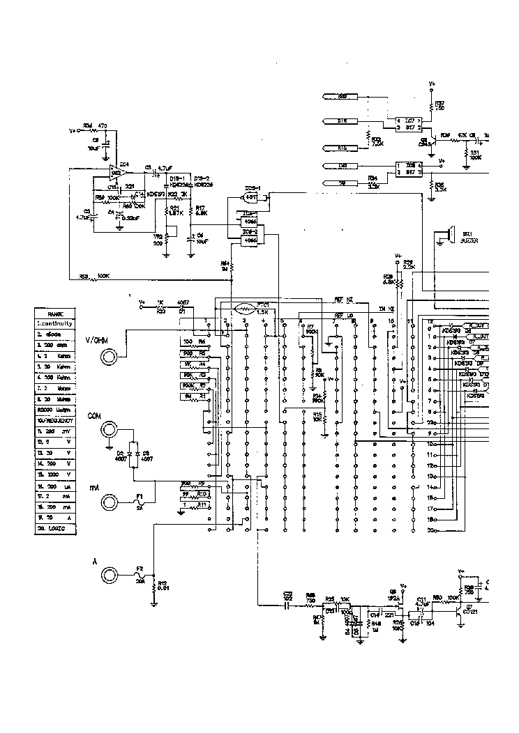 METEX M3610D M3650D SCH Service Manual download