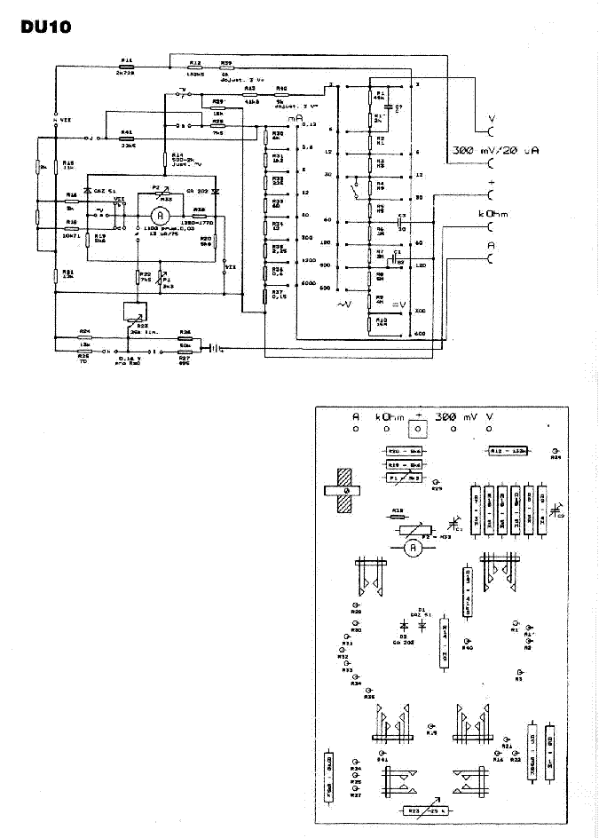 METRA DU10 SCH Service Manual download, schematics, eeprom