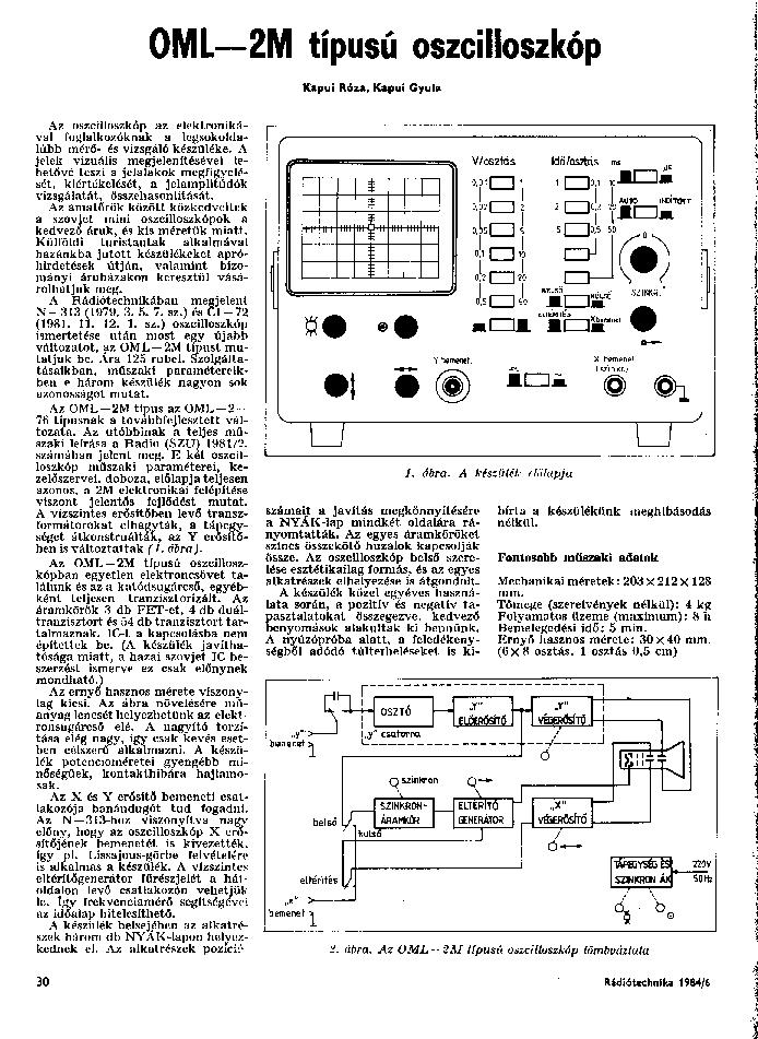 OROSZ OML-2M SM Service Manual download, schematics