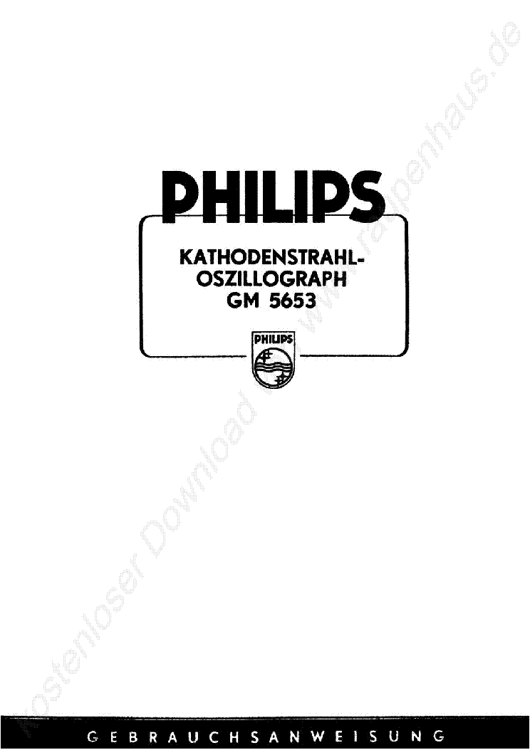 PHILIPS PM3230 MANUAL Service Manual free download