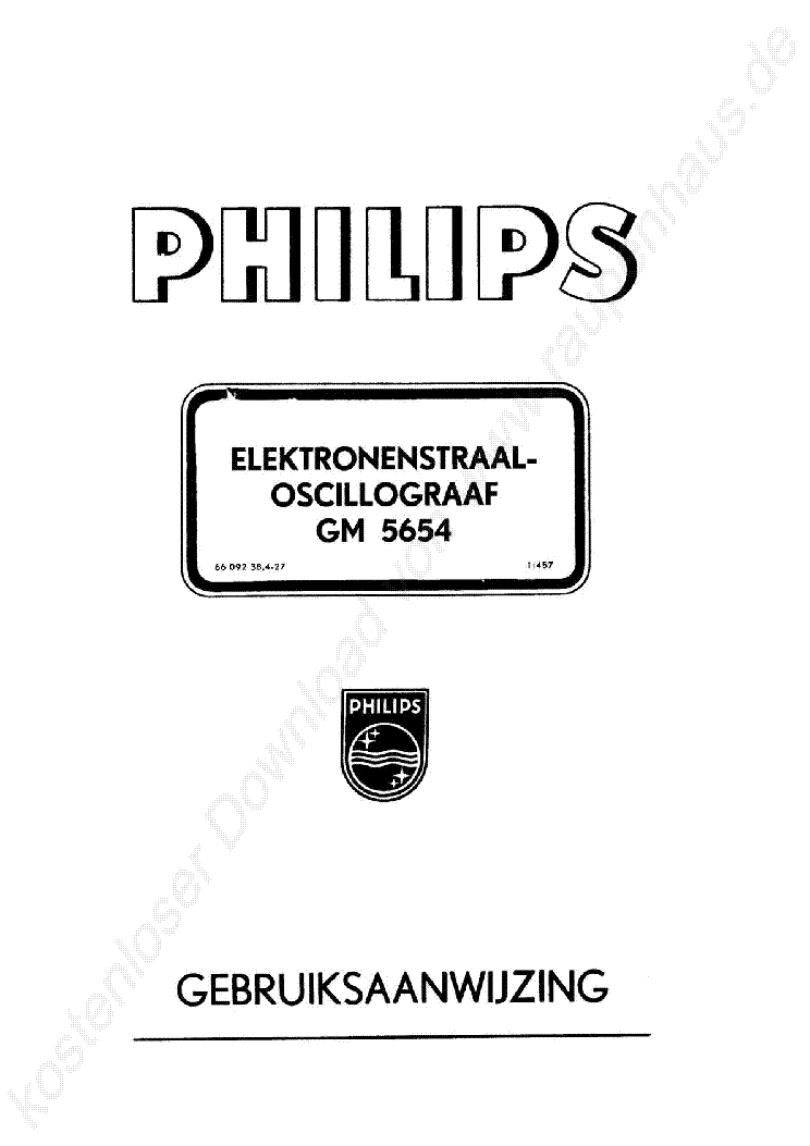 PHILIPS GM5654 SZKOP 1954 SM Service Manual download