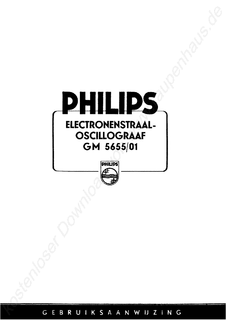 PHILIPS MODEL PM2503 VOLT-OHM-AMP METER Service Manual