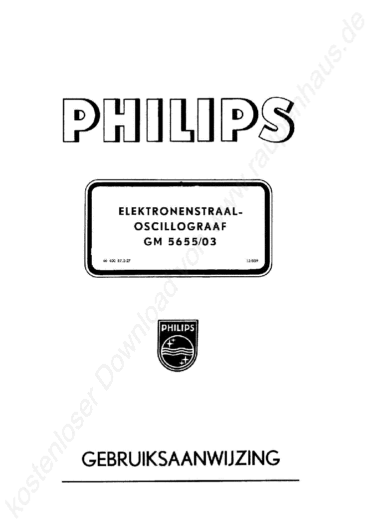 PHILIPS PM3262 SERVICE MANUAL Service Manual download