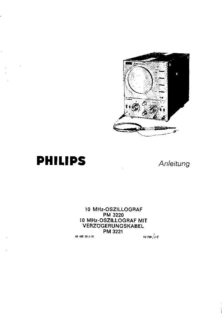 PHILIPS MODEL PM3220 OSCILLOSCOPE Service Manual download