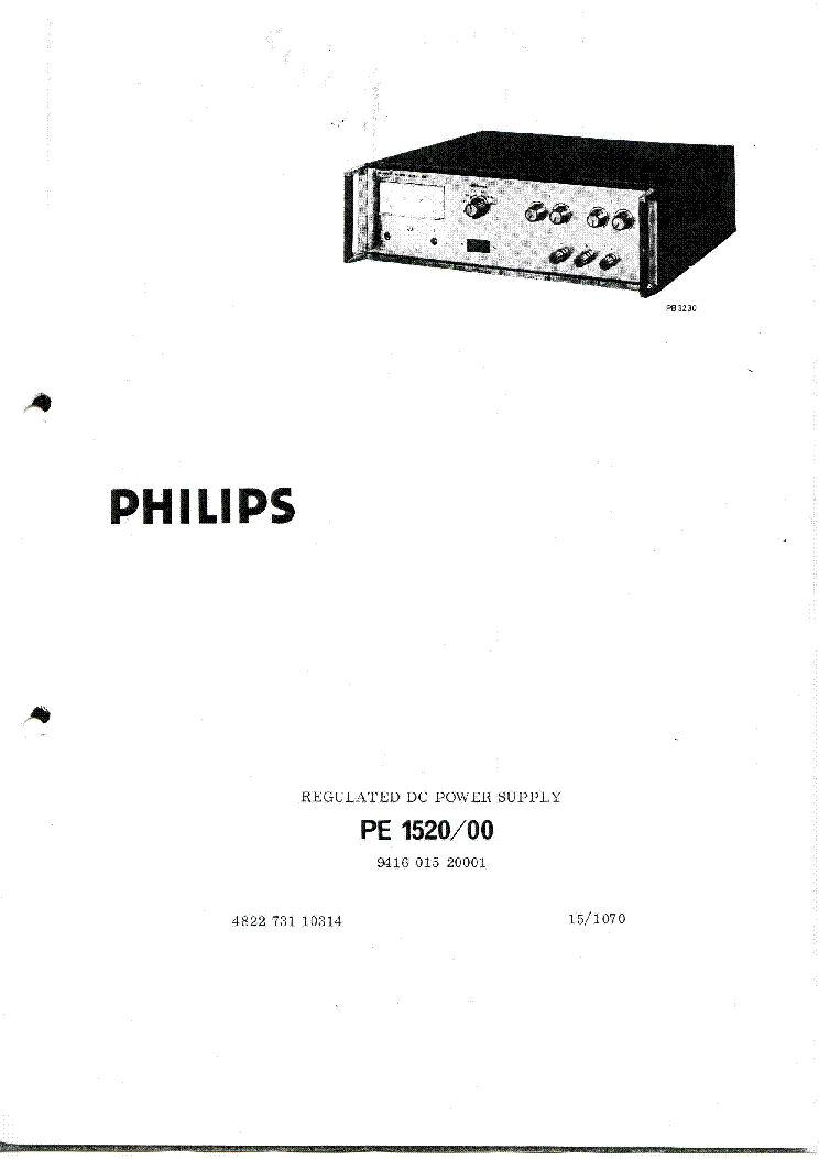 PHILIPS PM2618 PM2718 METER CALIBRATION SM Service Manual