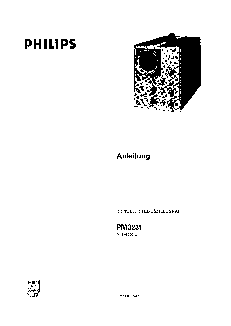 PHILIPS PM3231 SERVICE MANUAL Service Manual download