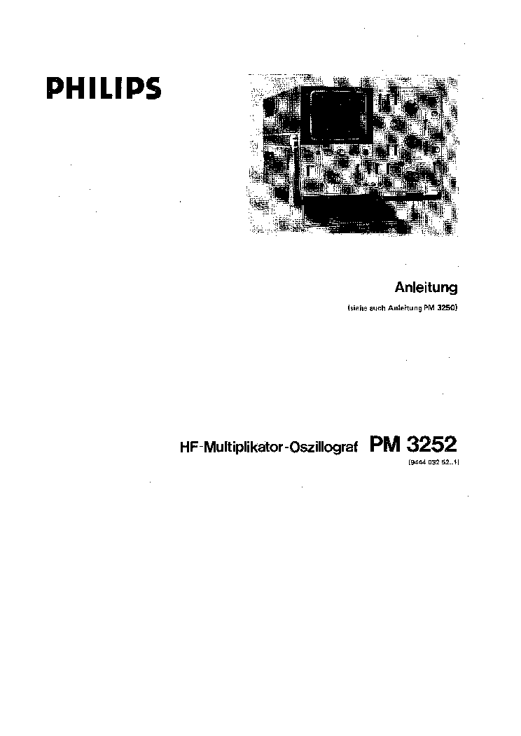 PHILIPS PM-3055 OSCILLOSCOPE-SM Service Manual free