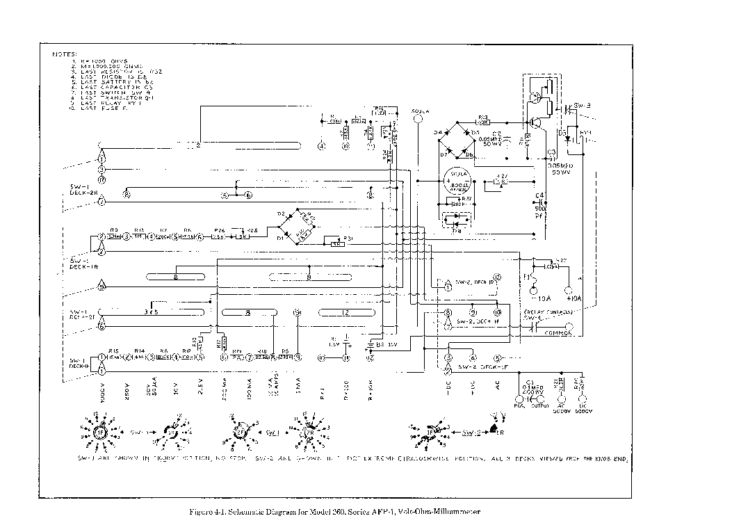 Simpson 260 Multimeter Schematic Simpson 260 Schematic