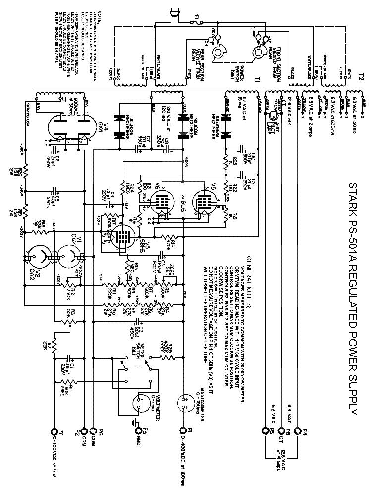 STARKIT PS-501A REGULATED POWER SUPPLY SCH Service Manual