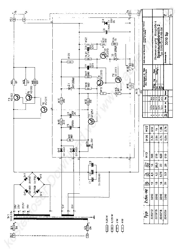 STATRON 2232 SCH Service Manual free download, schematics