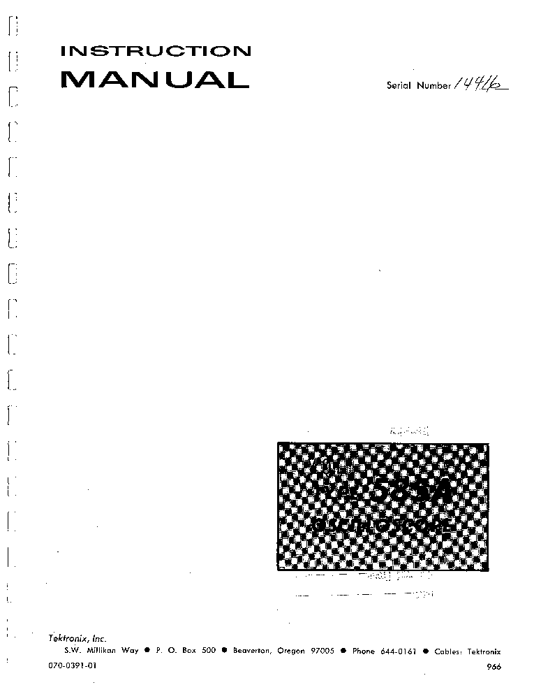 TEKTRONIX 585A OSCILLOSCOPE SM Service Manual download